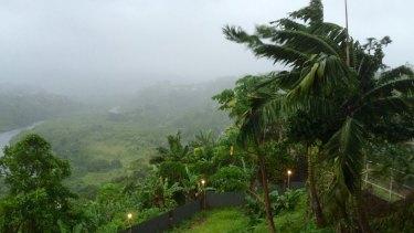 Fiji's capital Suva ahead of cyclone Winston's landfall.