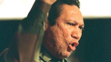 Panama dictator Manuel Noriega in Panama in 1988.