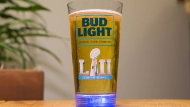 The beer cup created by Buzz for the Super Bowl.