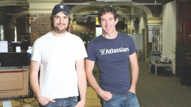 Atlassian founders Mike Cannon-Brookes and Scott Farquhar will hold 67.2 per cent of the total shares outstanding after the IPO.