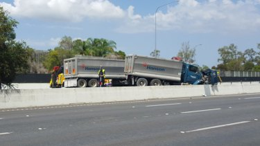 Two people died in a multi-vehicle crash on the M1 south of the Logan Rd exit, 14km south of the Brisbane CBD.
