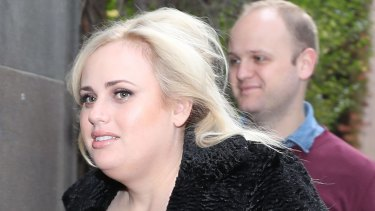 Rebel Wilson arrives at the Victorian Supreme Court on Thursday.