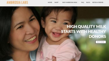 A page from the website of Ambrosia Labs Limited explaining their policy on breast milk donors. Cambodia has now banned the sale and export of human breast milk.