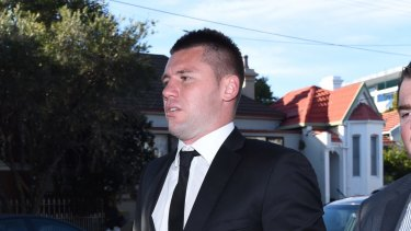Shaun Kenny-Dowall enters Waverley Local Court last year.