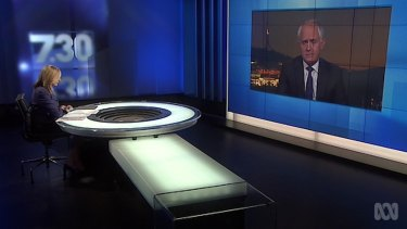 """""""I will decide what metaphors I use and the manner in which I use them"""": Malcolm Turnbull."""
