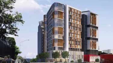 The proposal at 191 Vulture Street would see two towers constructed, filled with studio units and dorm-style apartments.