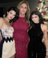 Caitlyn Jenner with her daughters Kendall (L) and Kylie Jenner.