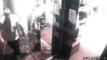 CCTV footage of Glen McNamara meeting Jamie Gao at Hurstville's Merdian Hotel.