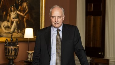 Former Prime Minister Paul Keating in his offices in Potts Point.