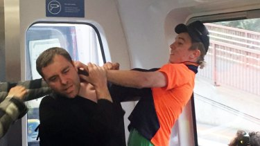 An image taken by a passenger on the train.