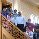 Sunshine Mosque imam Mustafa Asmaci with worshippers.