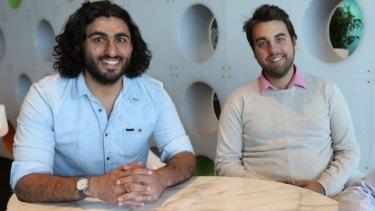 Mario Hasanakos (right) and Alex Badran, co-founders of Spriggy.