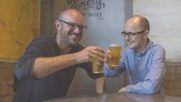 Good Beer Co. founder James Grugeon?with Australian?Marine Conservation Society Queensland director?Darren Kindleysides.