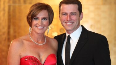 Karl Stefanovic and Cassandra Thorburn at the 2011 Logies.