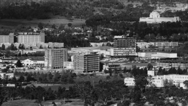 Civic as seen from Black Mountain in 1963.
