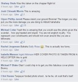 Some of the comments left on Mrs Bishop's cover photo.