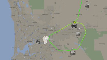 Flights were forced into a holding pattern around the airport.