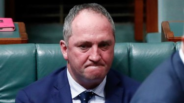 Barnaby Joyce in Parliament on Friday.