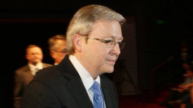 Former prime minister Kevin Rudd enjoyed strong support early in his first term.