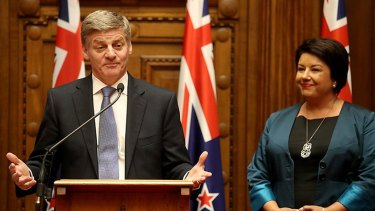 New Zealand Prime Minister Bill English and Deputy Prime Minister Paula Bennett on Monday.