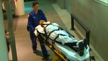 Daniel Johns was taken to hospital after falling over outside a Sydney bar.