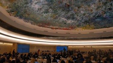 United Nations Human Rights Council meeting room, Geneva