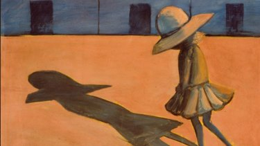 Charles Blackman, The Shadow (detail), 1953, tempera on cardboard 59 x 75cm, Heide Museum of Modern Art, Melbourne Purchased from John and Sunday Reed 1980. Copyright: Charles Blackman