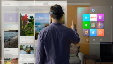 Microsoft's new HoloLens promises to blend the real world with the virtual.