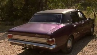 Family left a note on Mr Occhipinti's classic Holden, parked on a car park at Werribee Gorge urging him to make contact if he returns to the car.