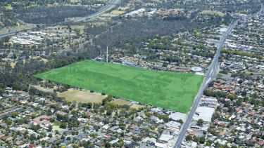 An aerial shot of the site.