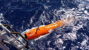 An autonomous underwater vehicle.