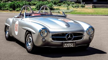 'Priceless': Ray Eastwood's Mercedes-Benz 220SL Roadster.