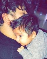 Rob and daughter, Dream Kardashian.
