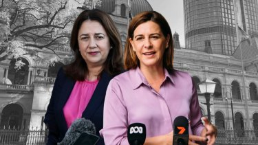 Queensland Premier Annastacia Palaszczuk and Opposition Leader Deb Frecklington.