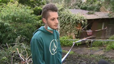Josh O'Connell rescued his neighbour after a tree fell through her house in Belgrave.