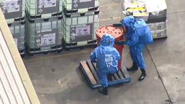 Seven people have been hospitalised after a chemical spill in Melbourne's west.