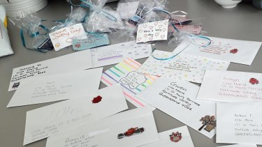 Letters and cards have been sent to residents.