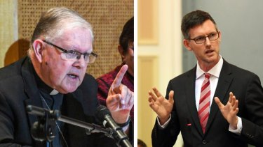 Comments from Archbishop Mark Coleridge (left) received a scathing retort from MP Mark Bailey.