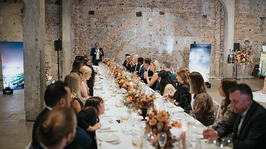 A grand affair: The Taylor's Wines dinner in Sydney on Tuesday.