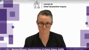 Claire Febey, the executive director of the Priority Projects Unit was initially put in charge of Victoria's hotel quarantine program.