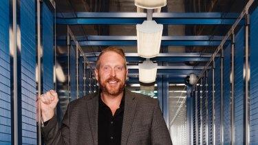 NextDC chief executive Craig Scroggie inside one of the company's data centres.