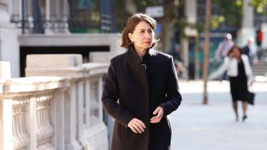 NSW Premier Gladys Berejiklian in Europe this week.