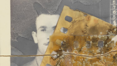 An image of Italian POW Michele Addona that is disintegrating in the National Archives.