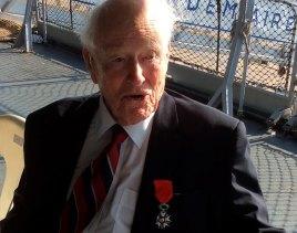 Bill McRae receiving the Legion D'Honneur.