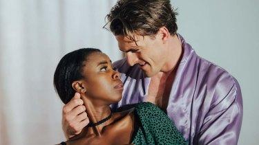Ratidzo Mambo andJames Biasetto in The Trial of Dorian Gray.