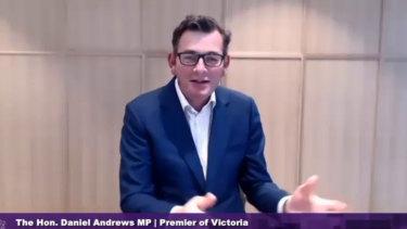 Premier Daniel Andrews at the COVID-19 hotel quarantine inquiry.