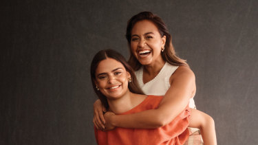 Jessica Mauboy, right, and Samantha Harris are part of a new campaign for Indigenous recognition launched by Marie Claire.