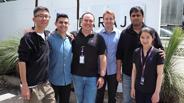 Baraja founder and CEO Federico Collarte (third from left) has a vision for self-driving cars.
