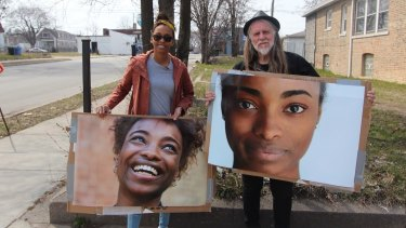 Filmmaker George Gittoes with Chantal Scott whose daughter Kaylyn (pictured) was murdered.