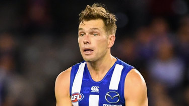 North Melbourne's Shaun Higgins has signed a new contract.